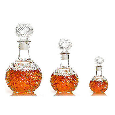 Crystal Whiskey Wine Shot Glass Bottle With Cap Stopper Drinking Bar Decanter ED