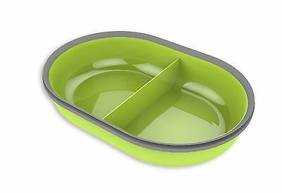 SureFeed Microchip Pet Feeder Split Bowl Green