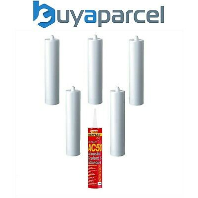 Everbuild AC50 Acoustic Sealant and Adhesive C4 380ml Size Pack of 6