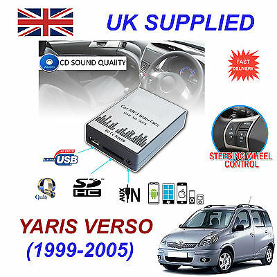 YARIS VERSO99-05 MP3 SD USB CD AUX Input Audio Adapter Digital CD Changer Module