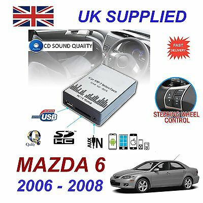 For MAZDA 6 2002- 09 MP3 SD USB CD AUX Input Audio Digital CD Changer Module
