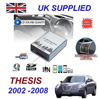 Lancia THESIS MP3 SD USB CD AUX Input Audio Adapter Digital CD Changer Module