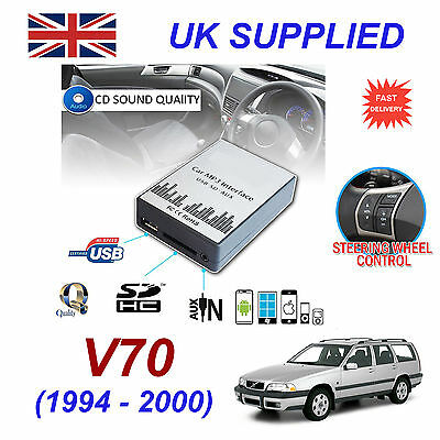 For VOLVO V70 MP3 SD USB CD AUX Input Audio Digital CD Changer Module 94-00SC