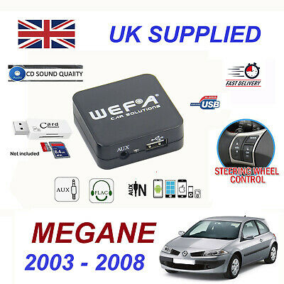 For Renault MEGANE MP3 SD USB CD AUX Audio Adapter Digital CD Changer Module 8pn