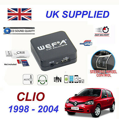 Renault CLIO MP3 SD USB CD AUX Input Audio Adapter Digital CD Changer Module
