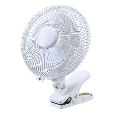 """New 6"""" Inch Small Desktop Clip On Portable Fan Table Desk Air Cooling 2 Speed"""