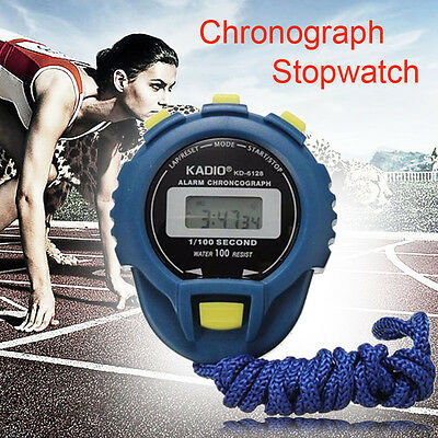 LCD Chronograph Digital Sport Timer Stopwatch Sport Counter Odometer Alarm Watch