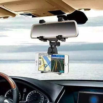 Car Rearview Mirror Mount Holder Stand Cradle Bracket For Cell Phone/Pad/GPS New
