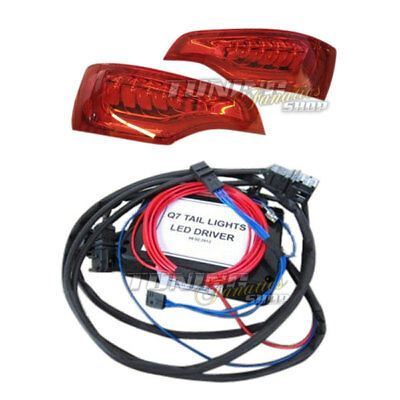 Original OEM LED Rückleuchten Audi Q7 4L Facelift Plug&Play Adapter = RHD