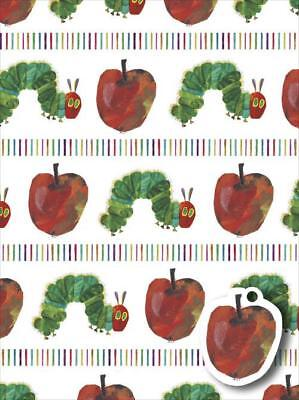 The Hungry Caterpillar 2 Sheets Of Gift Wrap 2 Gift Tags New Gift