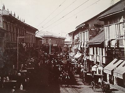 ANTIQUE VINTAGE CHINA CHINESE TURN 19th CENTURY NANJING ROAD SHANGHAI RARE PHOTO