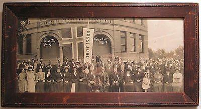 Antique 1912 Arts & Crafts Wood Frame Forest City Iowa Ia Hogsfjord Norway Photo