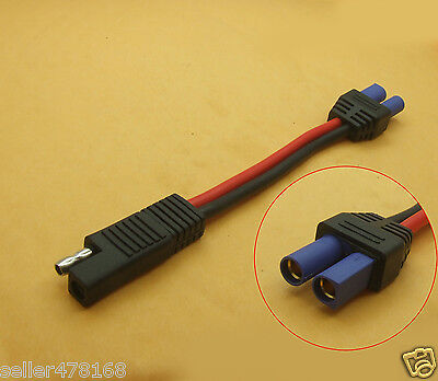 1pcS EC5 Female Connector to SAE Power Automotive Cable 10AWG Soft silicone 17cm