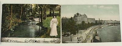 VINTAGE Paper Postcard Lot of 2 ALL London New Hampshire River Travel View UDB