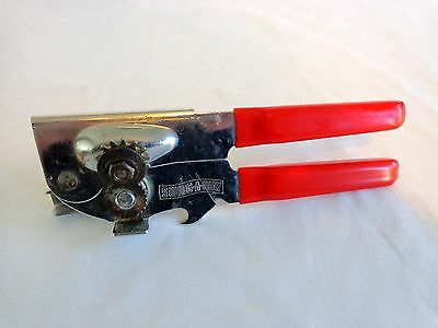 Vintage Swing A Way Can Opener RED Rubber Grip Handle 7 Inch