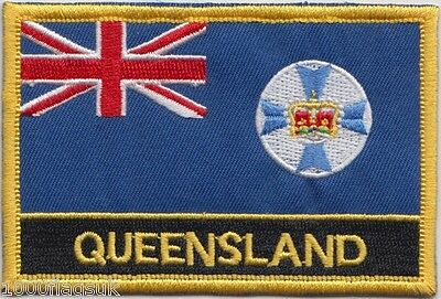 Australia Queensland State Flag Embroidered Patch Badge - Sew or Iron on