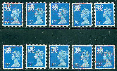 Great Britain Wales Sg-W41, Scott # Wmmh-26 Used, 10 Stamps, Great Price