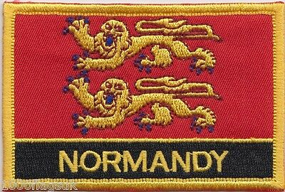 Nomandy Region France Flag Embroidered Patch Badge - Sew or Iron on