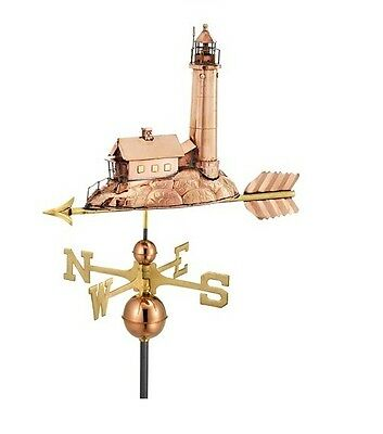 Lighthouse Copper Weathervane