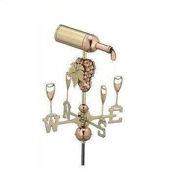 Wine Bottle Copper Weathervane