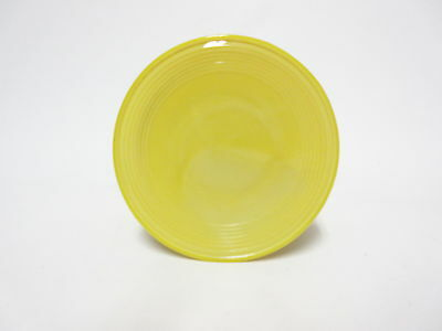 Akro Agate Child's Small Stacked Disc /Concentric Ring Yellow Plate 12Available