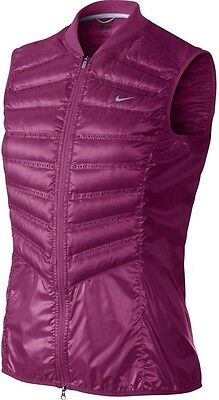 """Nike Aeroloft 800 Running Vest """"goose Down"""".. Color: Berry.. Size Xs.. Msrp:$180"""