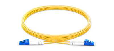 3m (10ft) LC UPC to LC UPC Duplex 2.0mm PVC(OFNR) 9/125 Single Mode Fiber Patch