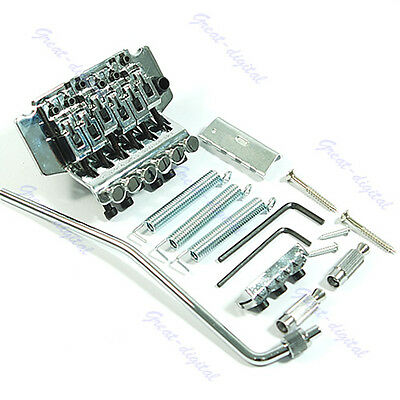 New Silver Floyd Rose Licensed Tremolo Bridge Double Locking System