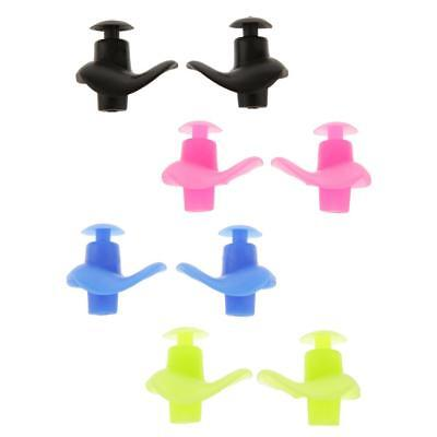 2pc Waterproof Soft Silicone Swimming Swim Diving Water Sport Ear Plug Protector