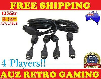 4 Player MULTIPLAYER Link Cable Cord For Gameboy Advance GBA SP Game Boy Multi