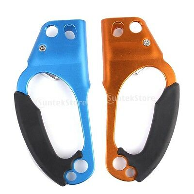 Safety Mountaineering Rock Climbing Abseiling Ascender 8-12Mm Rope - R / L Hand