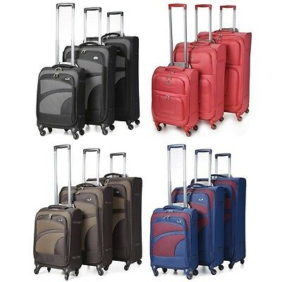 Aerolite Premium Super Lightweight 4 Wheel Spinner Luggage Suitcase Various Size