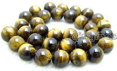 """SALE Big 12mm High quality Round Natural tiger's-eye Beads 15"""" strand-los613"""