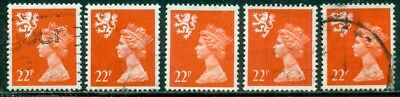 Great Britain Scotland Sg-S66, Scott # Smh-44 Used, 10 Stamps, Great Price!