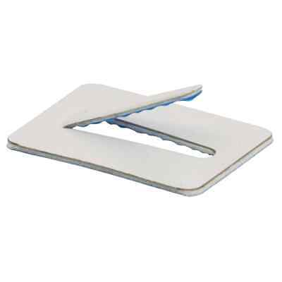 100 x 20mm x 30mm Steel Self Adhesive Cable Clips Adhesive Backing Wire Cable