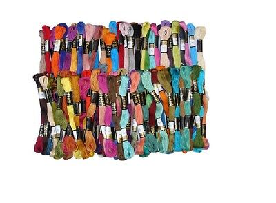 100 Anchor Solid Skeins Cotton Embroidery Thread Floss Best Price & Colour Uk