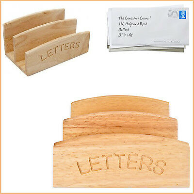 Wooden Post Letter Holder Sack Apollo Dual Compartment Storage Mail Desk Tray