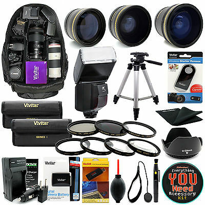 Canon EOS Rebel T5 T3 / 1200D 1100D SLR Camera Everything You Need Accessory kit