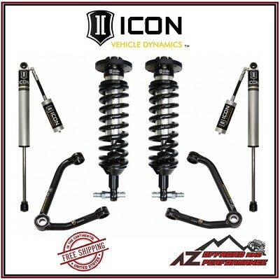 """ICON Stage 2 Suspension System Small Taper 2007-2016 GM 1500 Truck 1-3"""" Lift"""