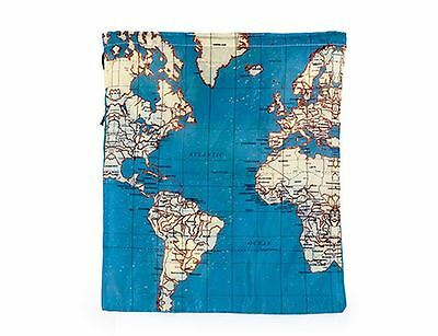World Map Travel Bags Set of 4 Shoe PE Adventure School Bag