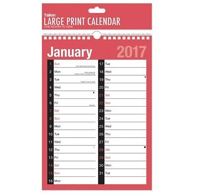 2017 Large Month To View Planner Quality Calender Wall Hanging Planner 3803