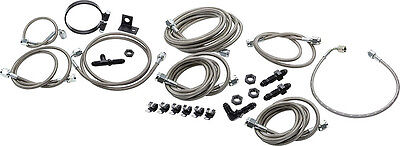 Allstar ALL42052 Brake Line Kit for Dirt Modified Race Car with OEM Calipers