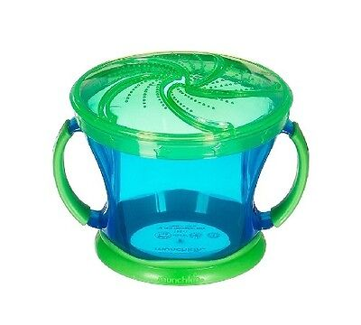 Munchkin Baby Toddler Snack Catcher Blue w/Green Top 12M+ 9 oz. Cup