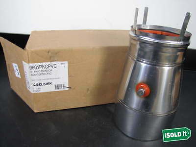 """NEW SAF-T VENT HEATFAB 9601MACH 6"""" GAS VENT CONNECTOR by SELKIRK PT# 9601PKCPVCK"""