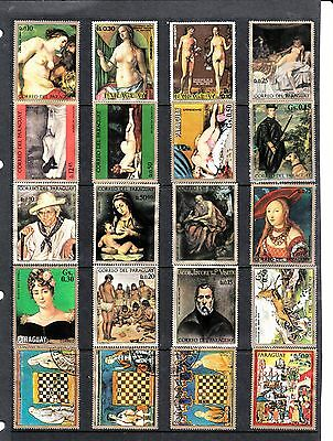 ART PAINTINGS Thematic STAMP Collection MINT USED Ref:TH531