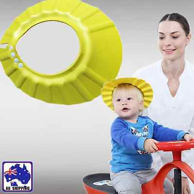 Yellow Baby Shower Cap Shampoo Bath Hat Wash Hair Shield Adjustable BACAP0103