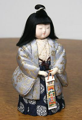 Vintage Japanese Girl Doll in Kimono. Gofun Face. High Quality Craftsmanship