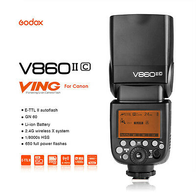 Godox V860II-C HSS 2.4G Wireless Build-In Transceiver Flash for Canon