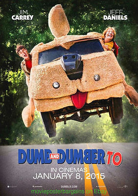 DUMB AND DUMBER TO MOVIE POSTER Original Mint ADVANCE DS 27x40 JIM CARREY 2014
