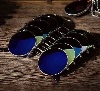 Women Men Retro Vintage Round Mirrored Sunglasses Eyewear Outdoor Sports Glasses